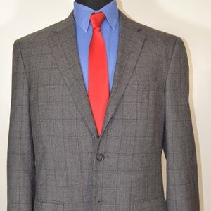 Jos A Bank 42L Sport Coat Blazer Suit Jacket Gray